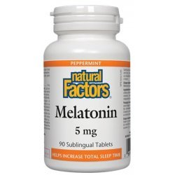 Natural Factors Melatonin 5 мг 90 таблетки