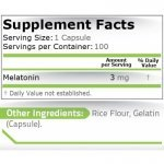 Pure Melatonin 3 мг 100 капсули PN19172