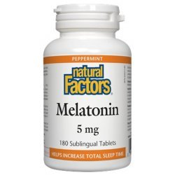 Natural Factors Melatonin 5 мг 180 таблетки