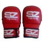 ММА Предпазни ръкавици естествена кожа Red SZ FightersММА Ръкавици Red SZ1