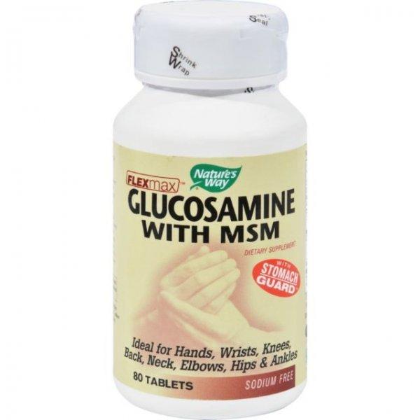 Nature's Way Glucosamine Sulfate With MSM 875 мг 80 таблетки14192