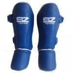 Протектори за крака за Муай Тай Кожени Blue SZ FightersПротектори за крака SZ за Муай Тай - Blue1