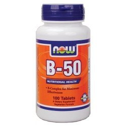 NOW Витамин B-50 100 таблетки