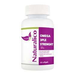 Naturalico  Omega 3ple Strenght 60 софтгел капсули