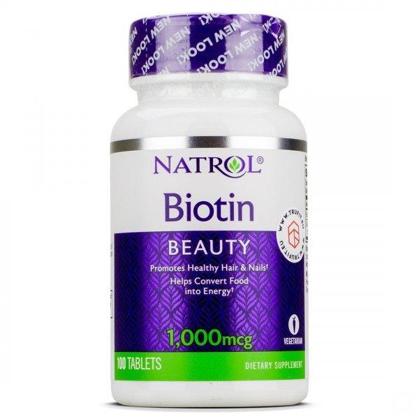 Natrol Biotin 1000 mcg 100 таблеткиNAT353