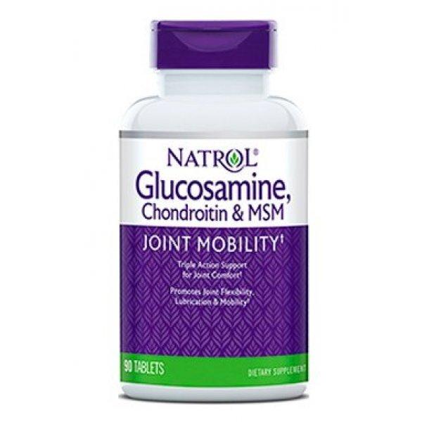 Natrol Glucosamine Chondroitin MSM 90 таблеткиNAT395