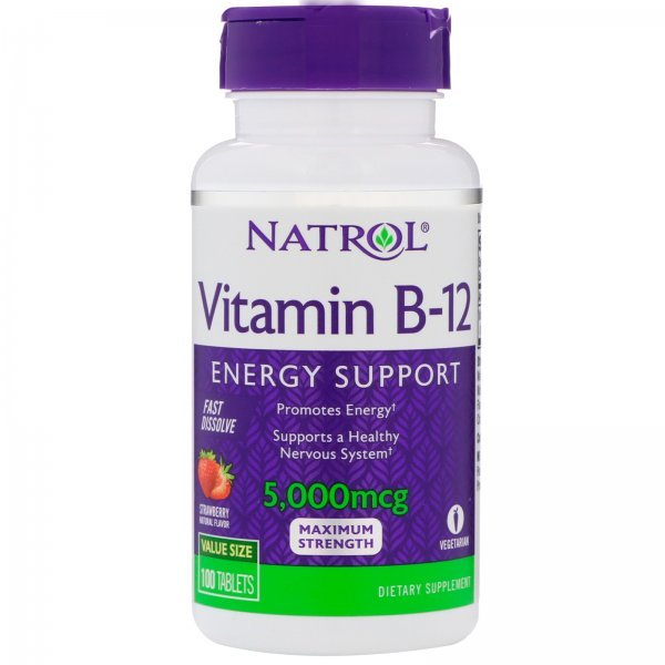 Natrol Vitamin B12 Fast Dissolve 5000 мкг 100 таблеткиNAT462