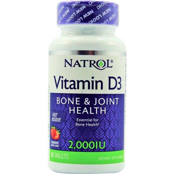 Natrol Vitamin D3 Fast Dissolve 2000 IU 90 таблеткиNAT463