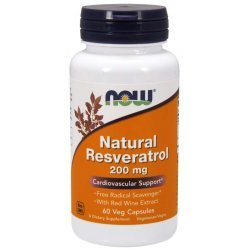 NOW Natural Resveratrol 200 мг 60 капсули