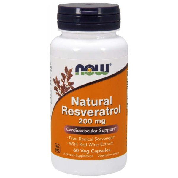NOW Natural Resveratrol 200 мг 60 капсулиNOW3339