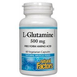 Natural Factors L-Glutamine 500 мг 60 капсули