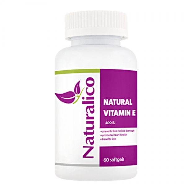Naturalico Natural Vitamin E 400 IU 60 гел капсулиNL91