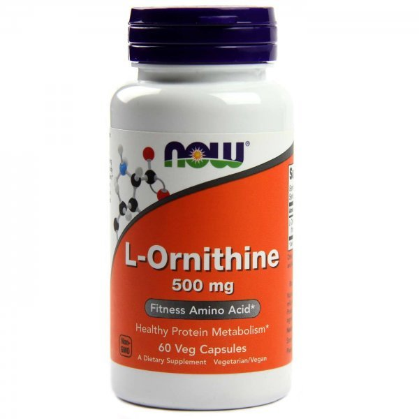 NOW L-Ornitine 60 капсулиNOW120