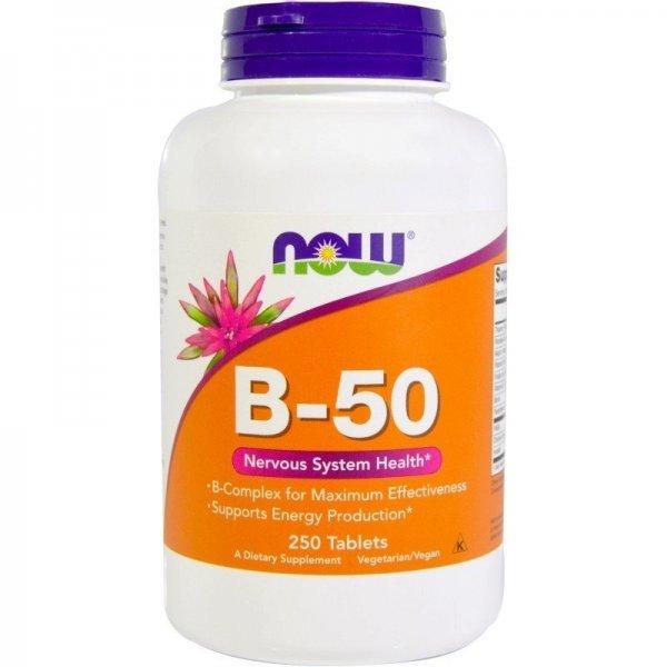 NOW Витамин B-50 250 таблеткиNOW428