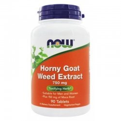 NOW Horny Goat Weed 750 мг 90 таблетки