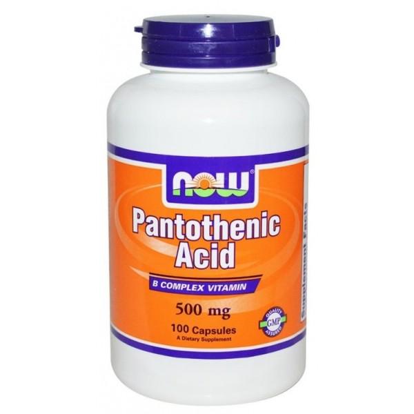 NOW Витамин B5 (Pantothenic Acid) 500 мг 100 капсулиNOW486