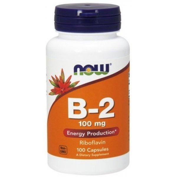 NOW Витамин B-2 (Riboflavin) 100 мг 100 капсулиNOW447