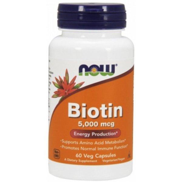 NOW Витамин B7 (Biotin) 5000 mcg 60 капсулиNOW471