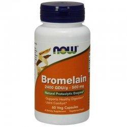 NOW Bromelain 500 мг 60 капсули