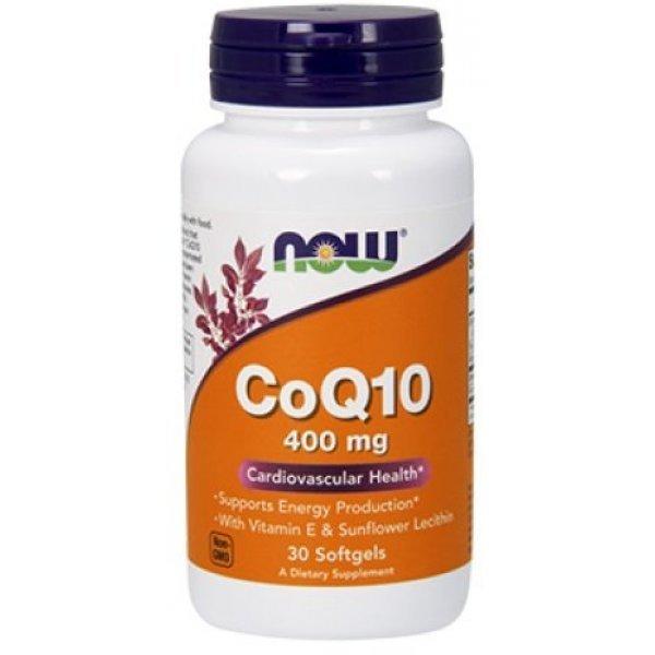 NOW COQ10 400 мг 30 дражетаNOW3199