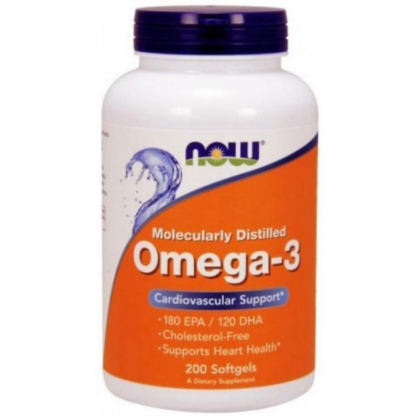 NOW Omega 3 200 дражетаNOW1652