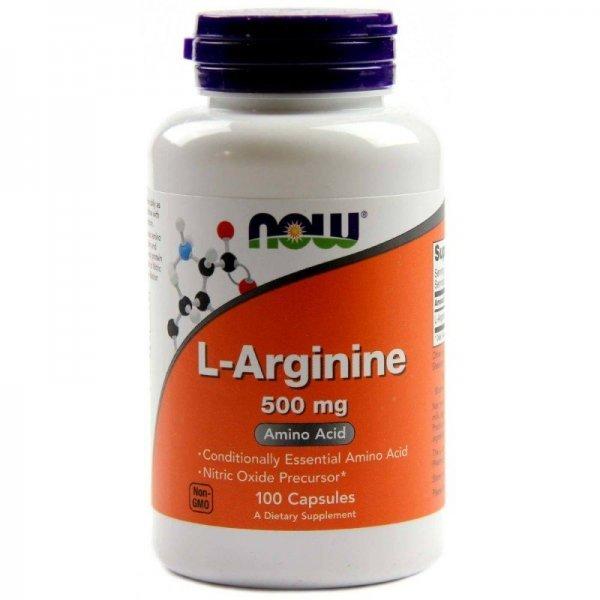NOW L-Arginine 100 капсулиNOW30
