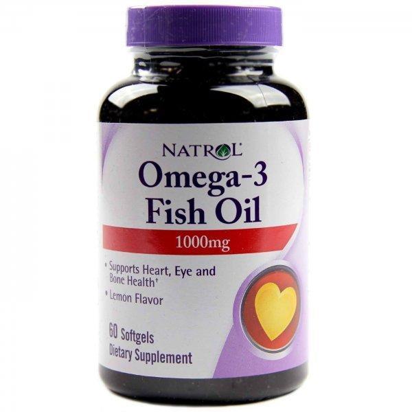 Natrol Omega-3 Fish Oil 60 дражетаNAT435