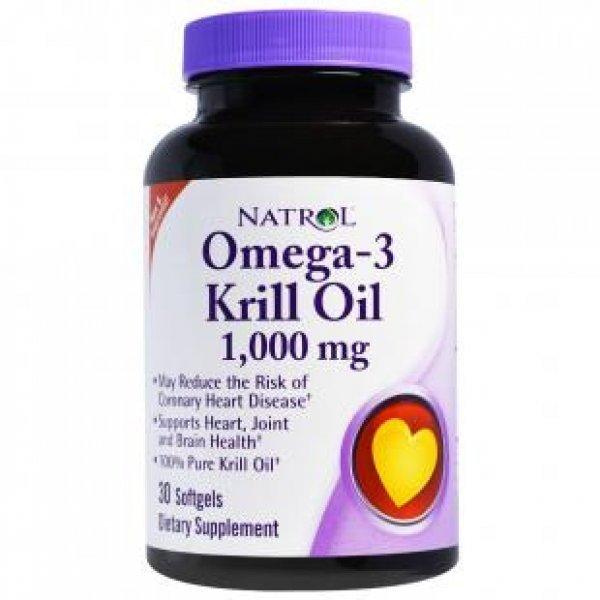 Natrol Omega-3 Krill Oil 1000 мг 30 дражетаNAT440