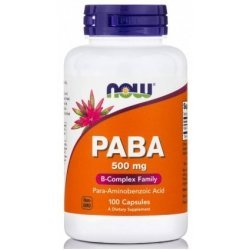 NOW PABA 500 мг 100 капсули