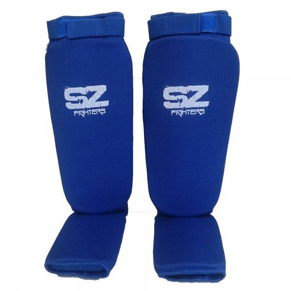 Протектори за крака за бойни спортове Blue SZ FightersПротектори за крака SZ - Blue