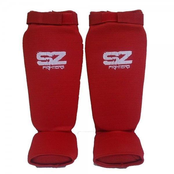 Протектори за крака за бойни спортове Red SZ FightersПротектори за крака SZ-Red