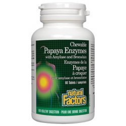 Natural Factors Papaya Enzymes 60 таблетки