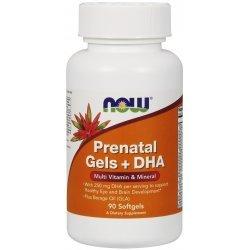 NOW Prenatal Vitamins + DHA 90 дражета