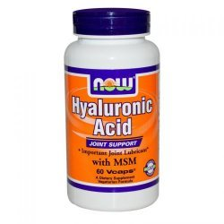 NOW Hyaluronic Acid with MSM 60 капсули