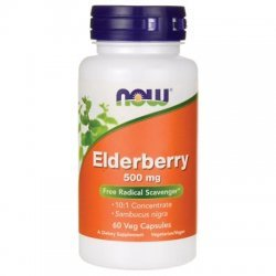 NOW Elderberry Extract 500 мг 60 капсули