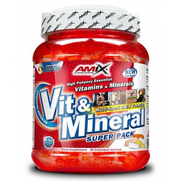 AMIX Super Vit-Mineral Pack 30 пака AM282