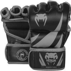 MMA ръкавици Challenger White Venum, черен/сив