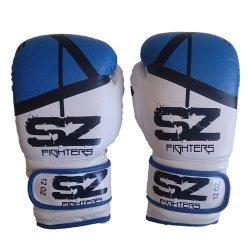 Боксови ръкавици естествена кожа Evo Victory Blue
