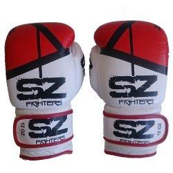 Боксови ръкавици естествена кожа Evo Victory Red