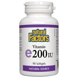 Natural Factors Vitamin E 100 мг 90 капсули