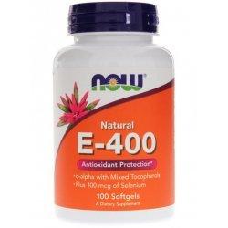 NOW Витамин Е-400 + Селен 100 дражета