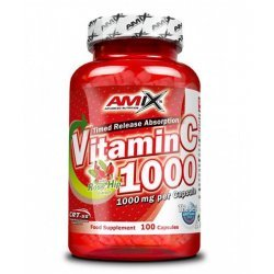 AMIX Vitamin C 1000 mg / with Rose Hips / 100 капсули
