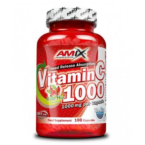AMIX Vitamin C 1000 mg / with Rose Hips / 100 капсулиAM297