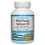 Natural Factors Wild Pacific Salmon Oil 1000 мг 90 дражета22561