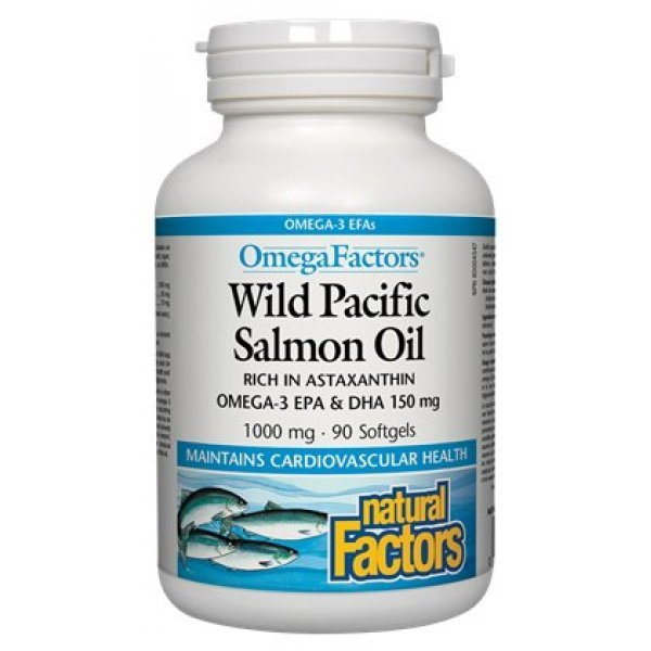 Natural Factors Wild Pacific Salmon Oil 1000 мг 90 дражета2256
