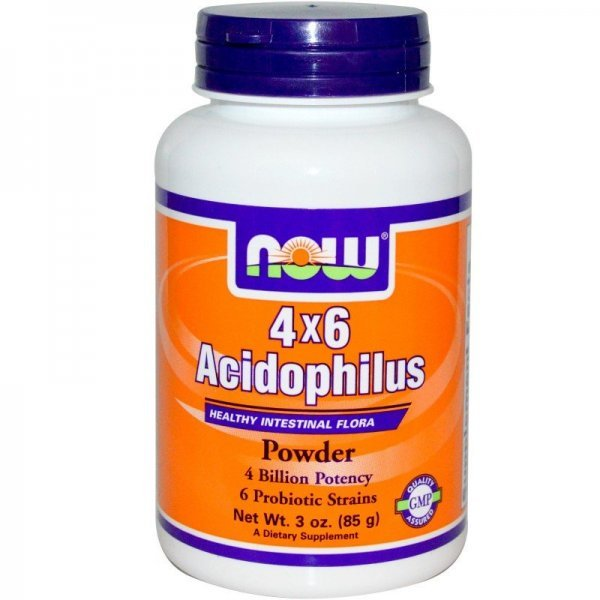 NOW Acidophilus 4X6 Прах 85 грNOW2925