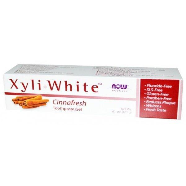 NOW Паста за зъби XYLIWHITE с вкус на канелаNOW8092