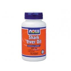 Now Shark Liver Oil 400 мг 120 капсули