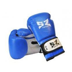 Боксови ръкавици естествена кожа сини SZ