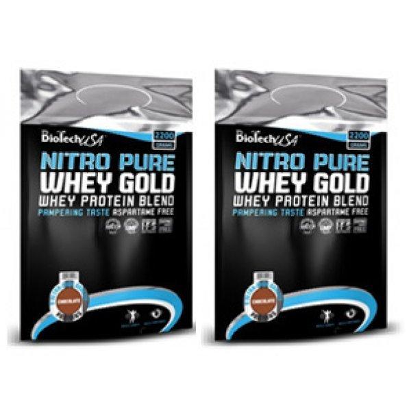 Biotech Nitro Gold Whey 2200 гр X2 StackBT180